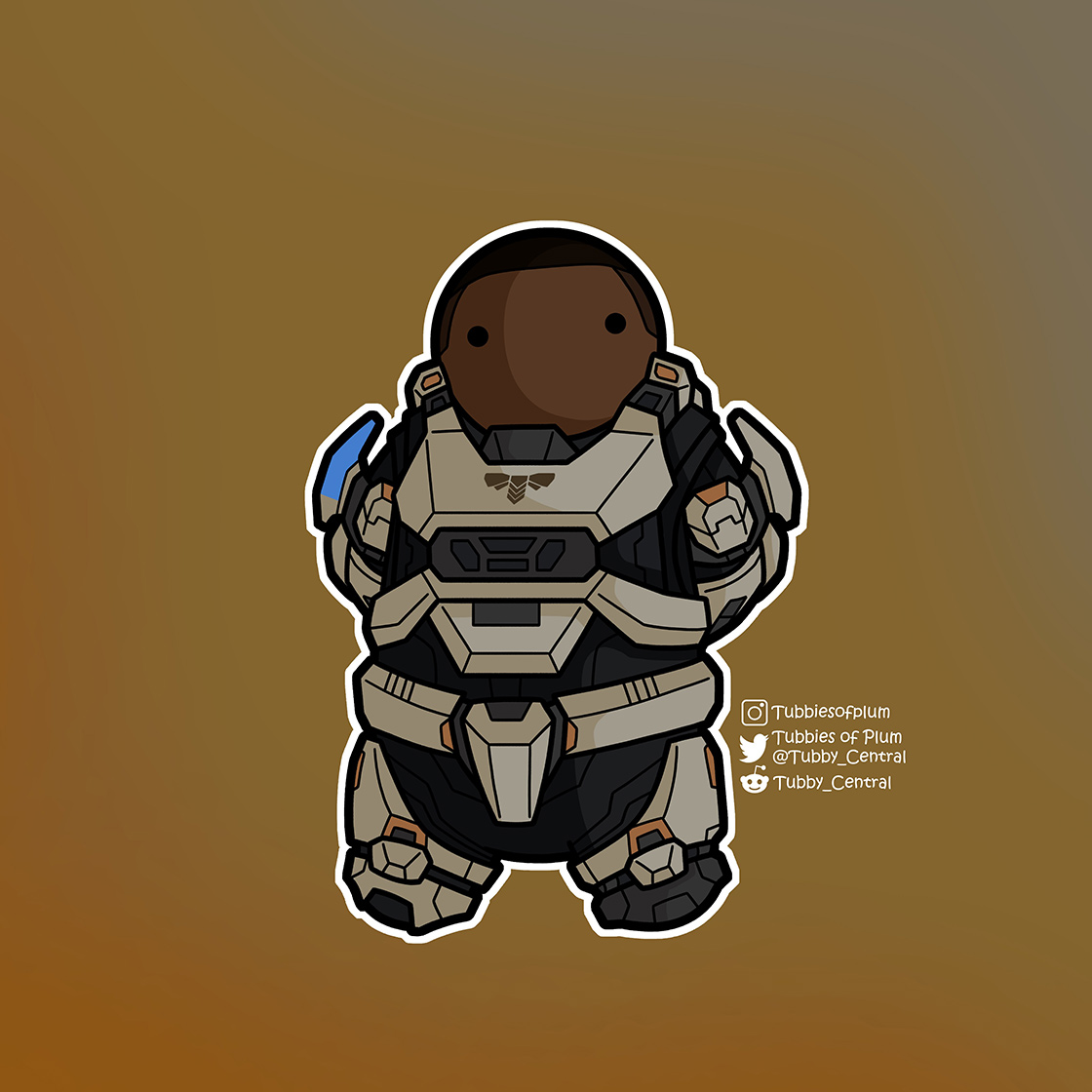 A small, tubby Spartan model of Commander Laurette Agryna