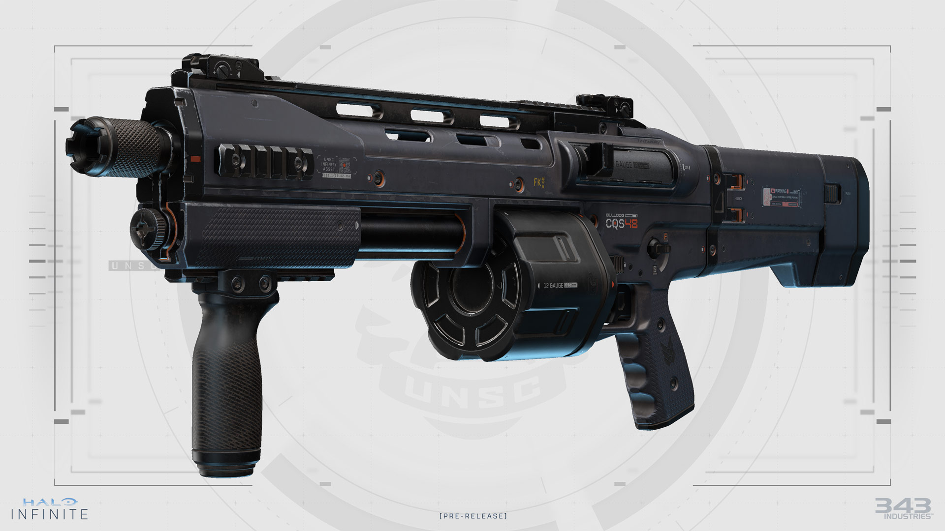 Render of the CQS48 Bulldog on a white UNSC background