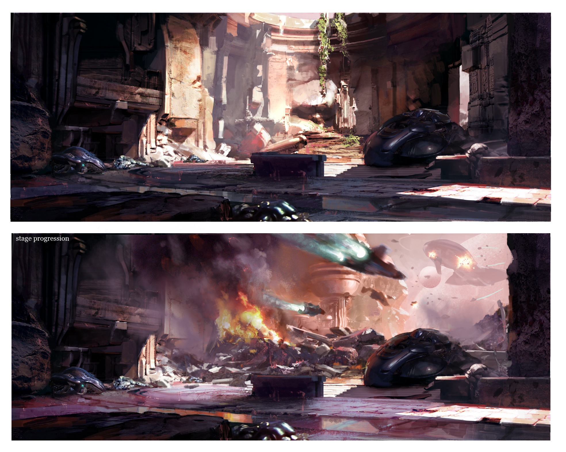 Killer Instinct Aribiter stage concept art, via 343 Industries
