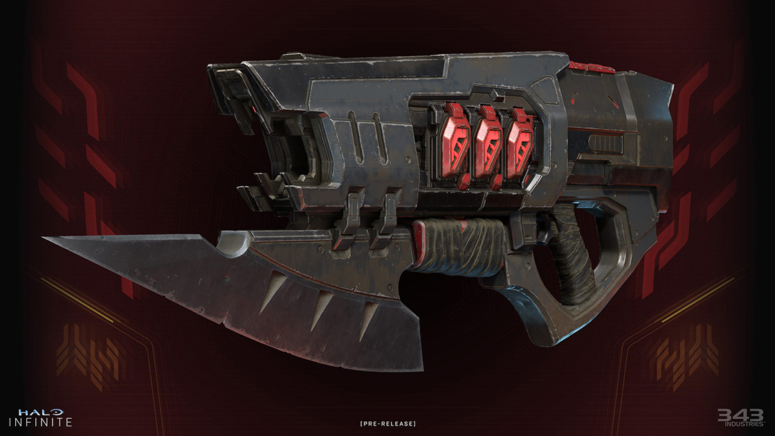 A render of the Ravager, a Banished weapon.