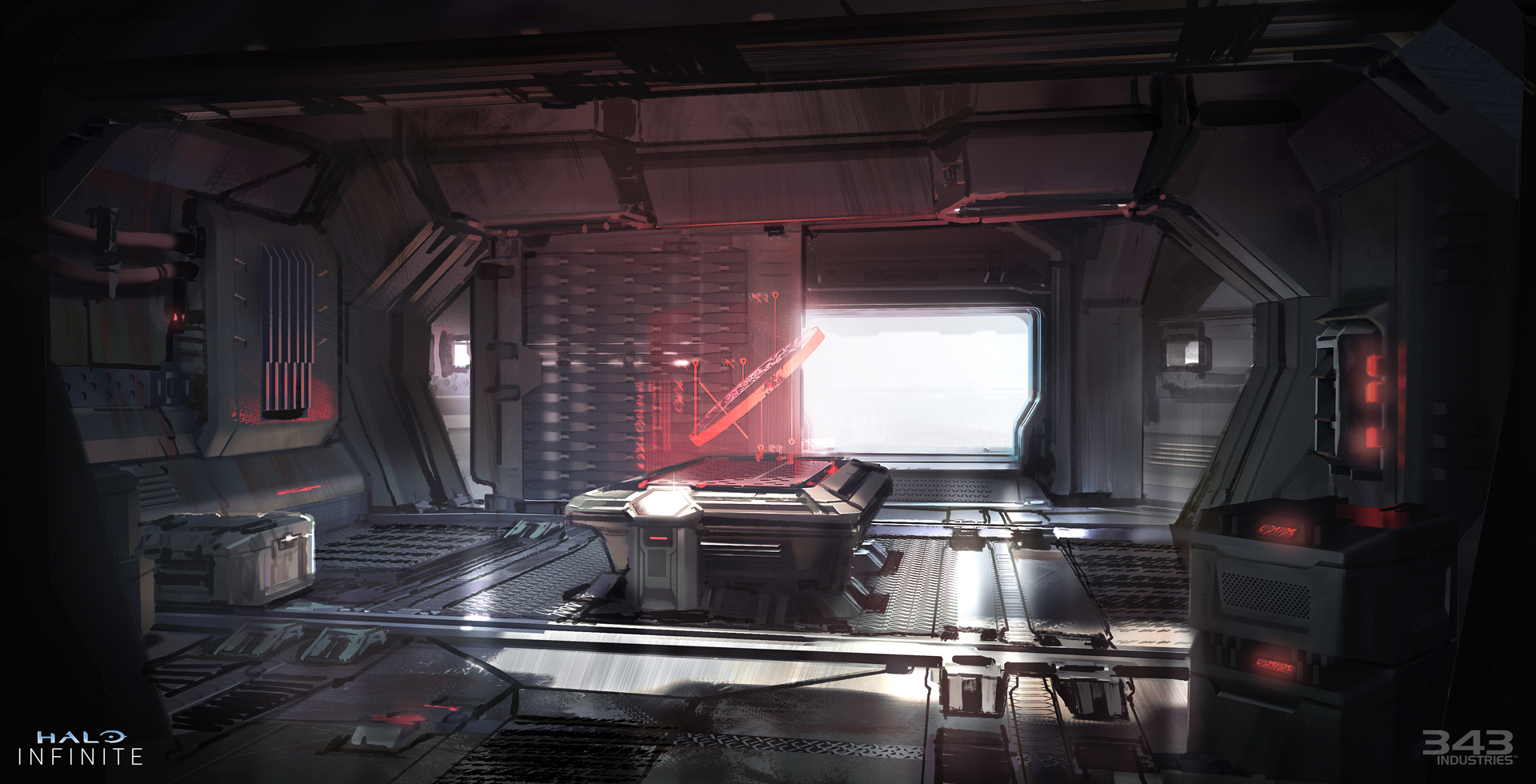 Concept art of what the inside of a Banished building could look like.