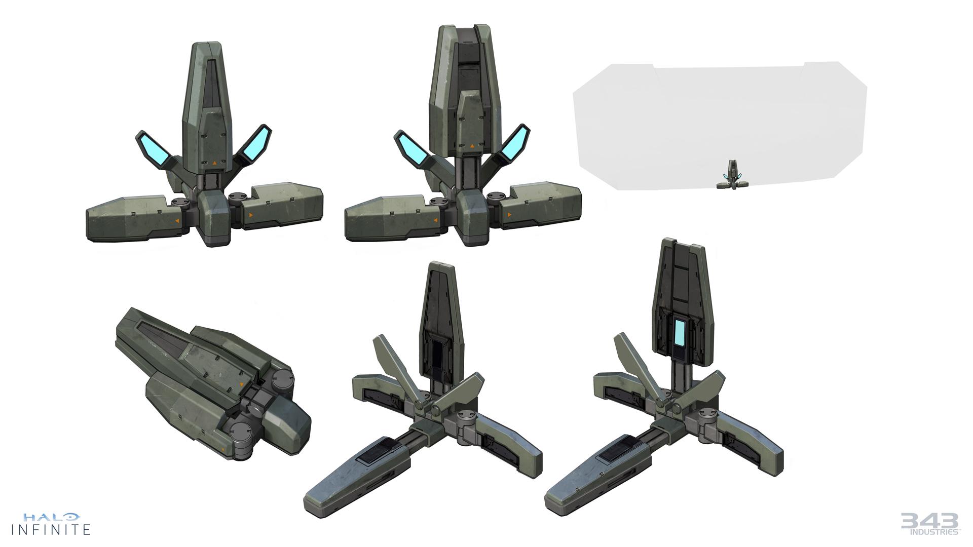Concept art of Drop Wall equipment item