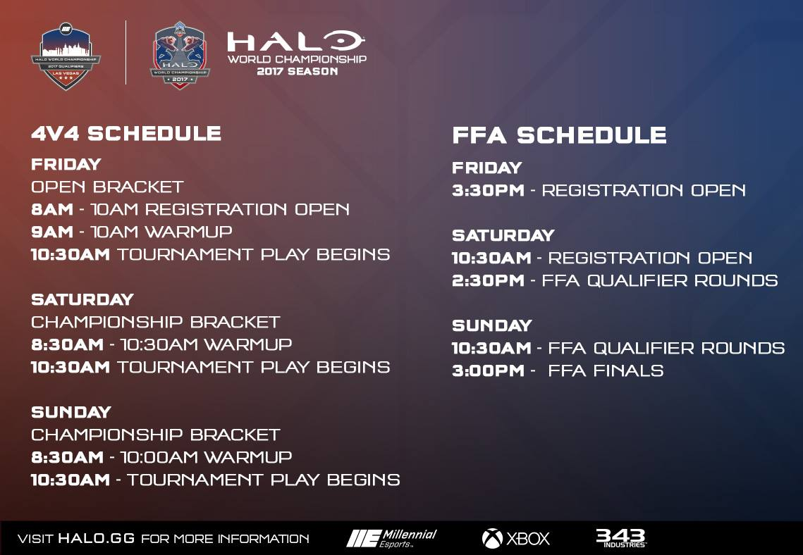 For more info on HaloWC Qualifier: Las Vegas, check out the Official HCS  blog post here. And as always, stay tuned to @HCS on Twitter for the latest  news ...