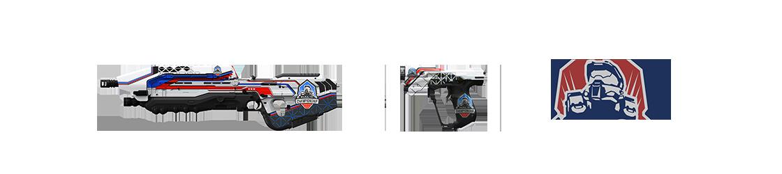 Halo 5 - HCS скины магнума и штурмовой винтовки, эмблема