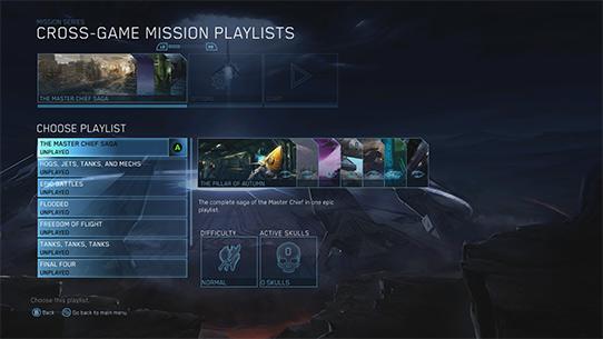 Sélections des jeux Halo
