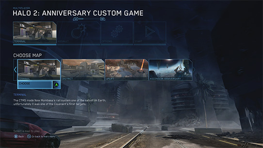 Halo: 2 Anniversary 사용자 지정 게임