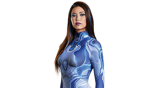 Cortana Adult Costume