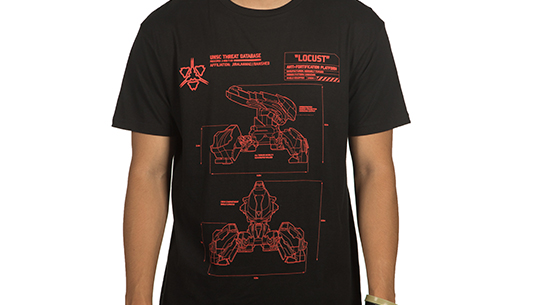 HALO WARS 2 LOCUST SCHEMATIC TEE