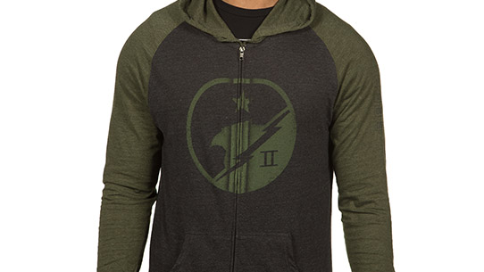 SPARTAN II Blue Team RAGLAN ZIP-UP HOODIE