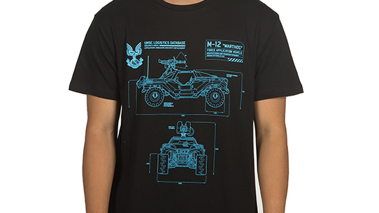 HALO WARS 2 WARTHOG SCHEMATIC TEE