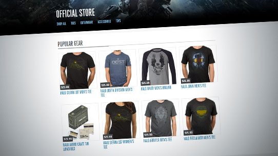 Nouvelle boutique officielle Halo