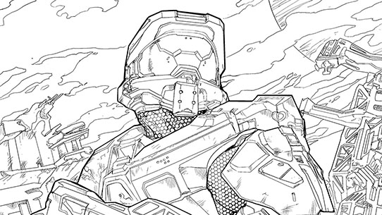 Halo Adult Coloring Book