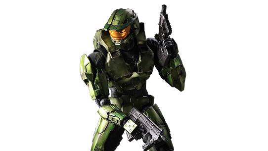 Halo 2 Master Chief Play Arts Kai Figure