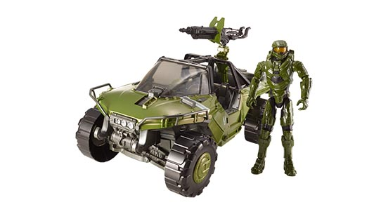 "Halo Warthog + 12"" Master Chief Figure"